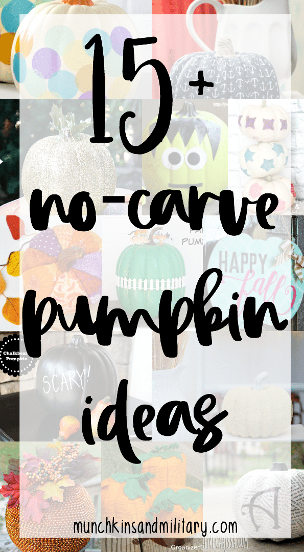 Over 15 ideas for no-carve faux pumpkin decorations for fall