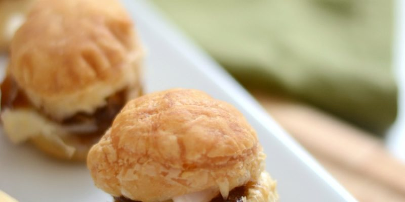 Mini Apple Butter Baked Brie Puffs