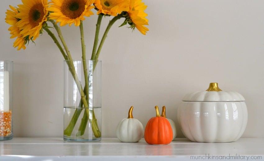 Sunflowers and pumpkins - fall home decor