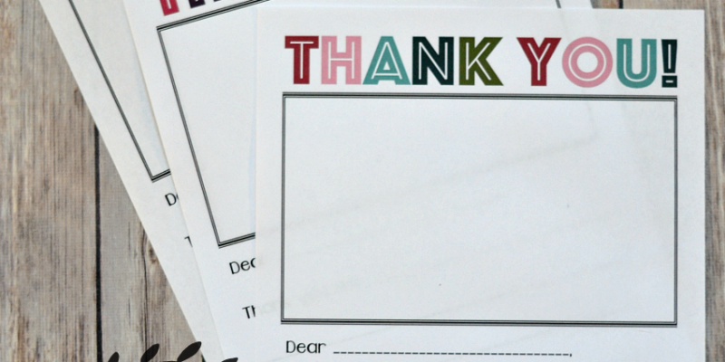 Printable Thank You Note