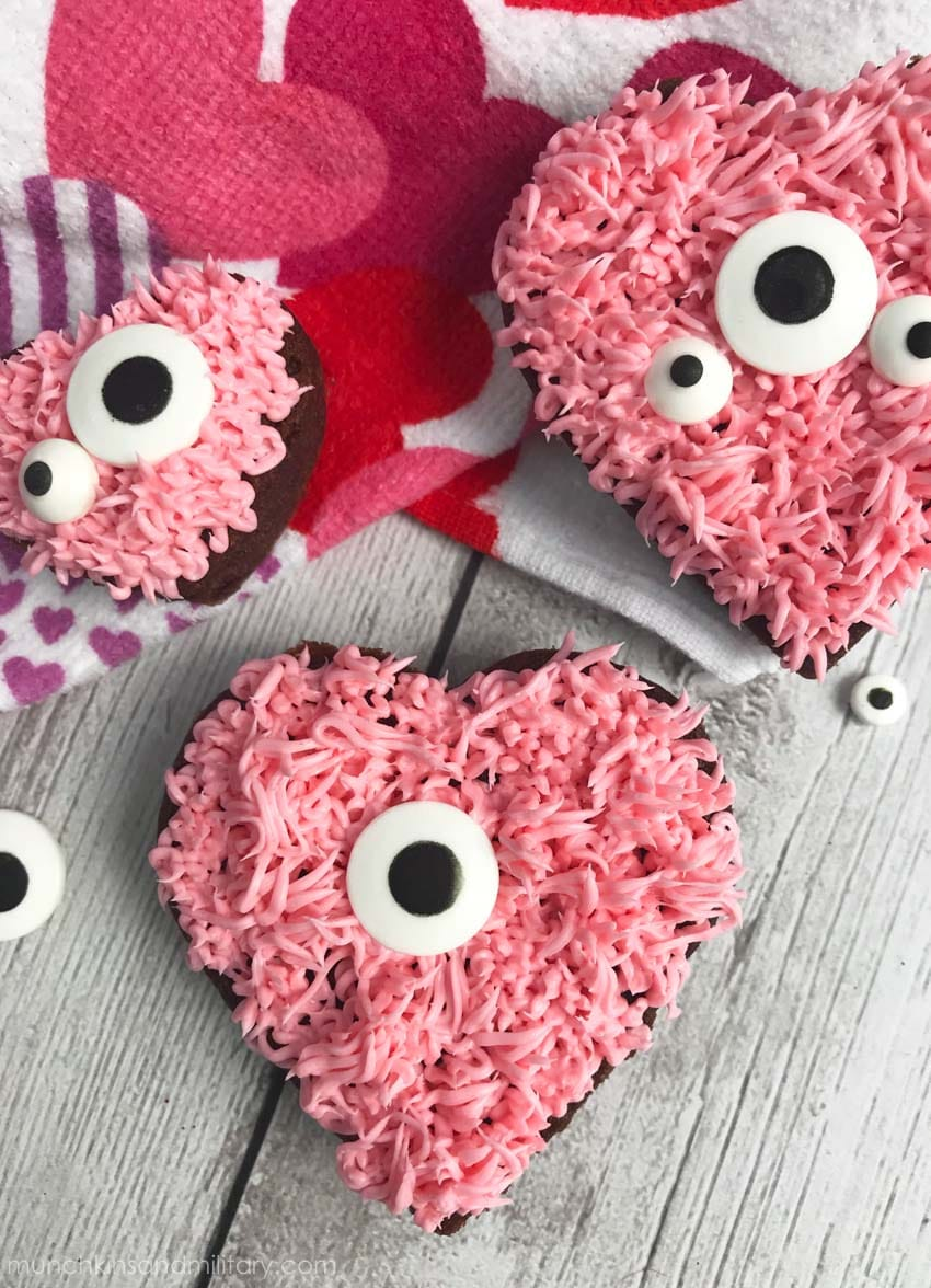 Valentine's monster heart brownies that are so cute it's scary!