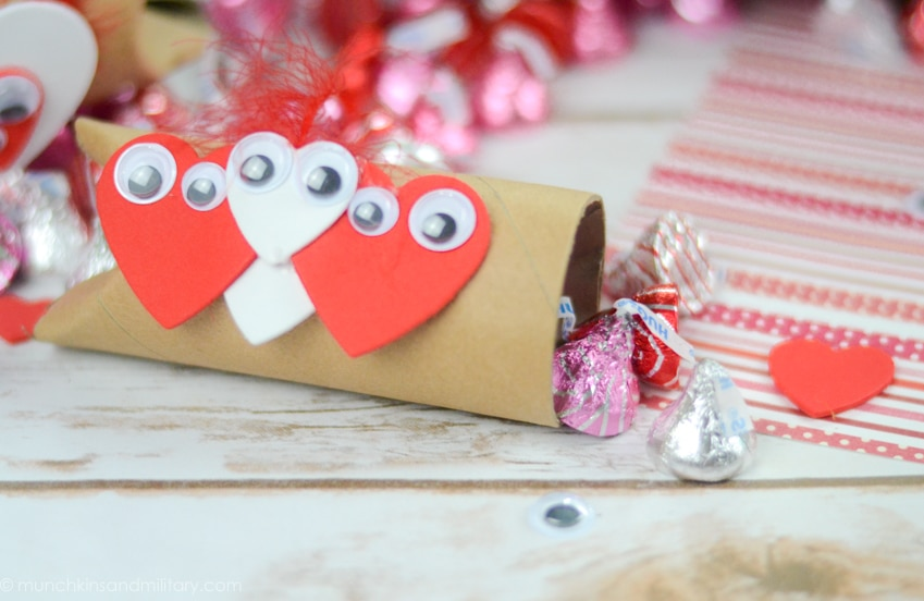 DIY Valentine's treat filled with chocolate