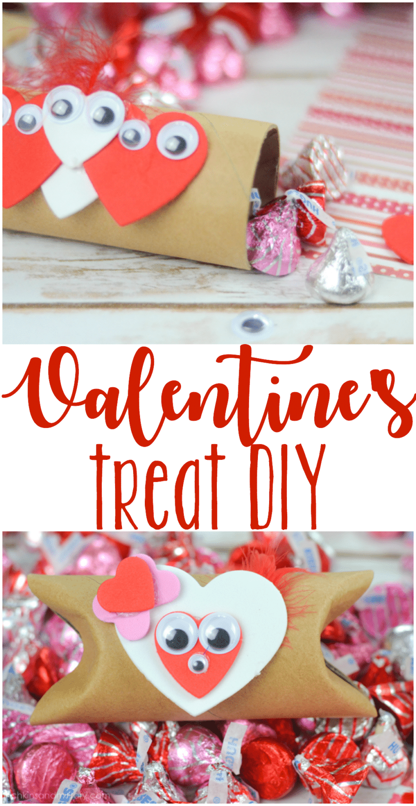 Fun DIY craft idea for the whole family! Perfect for creating classroom Valentine's treats!