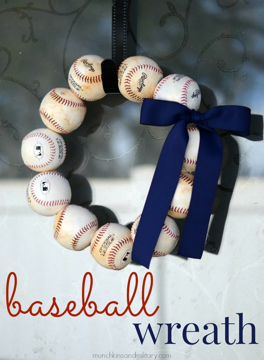 Let S Play Ball Baseball Wreath Three Little Ferns Family