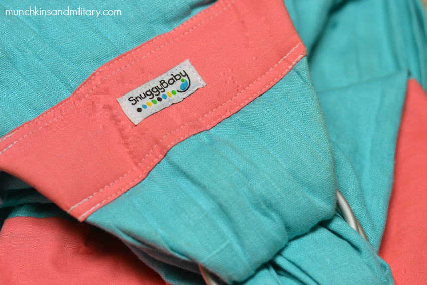 7dd8c615dff Snuggy Baby Ring Sling  Review  - Three Little Ferns - Family ...