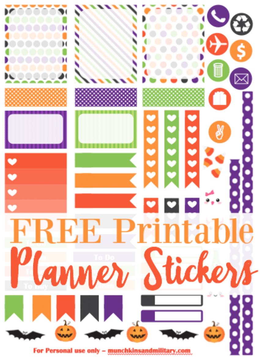 image about Halloween Stickers Printable named cost-free-printable-lifetime-planner-halloween-stickers - A few