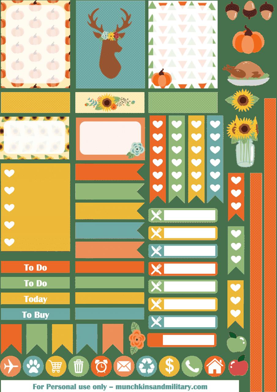 Thanksgiving Planner Stickers - Three Little Ferns ...