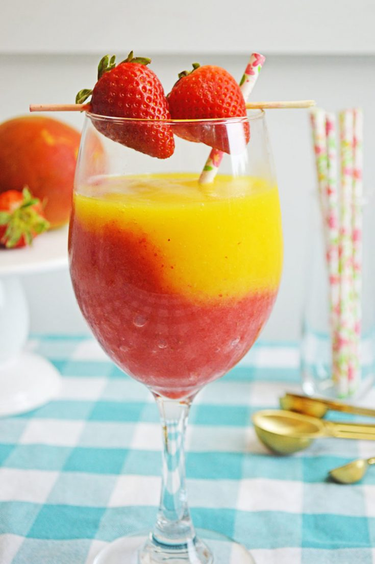 Mango Strawberry Daiquiri Recipe Three Little Ferns Family Lifestyle Blog