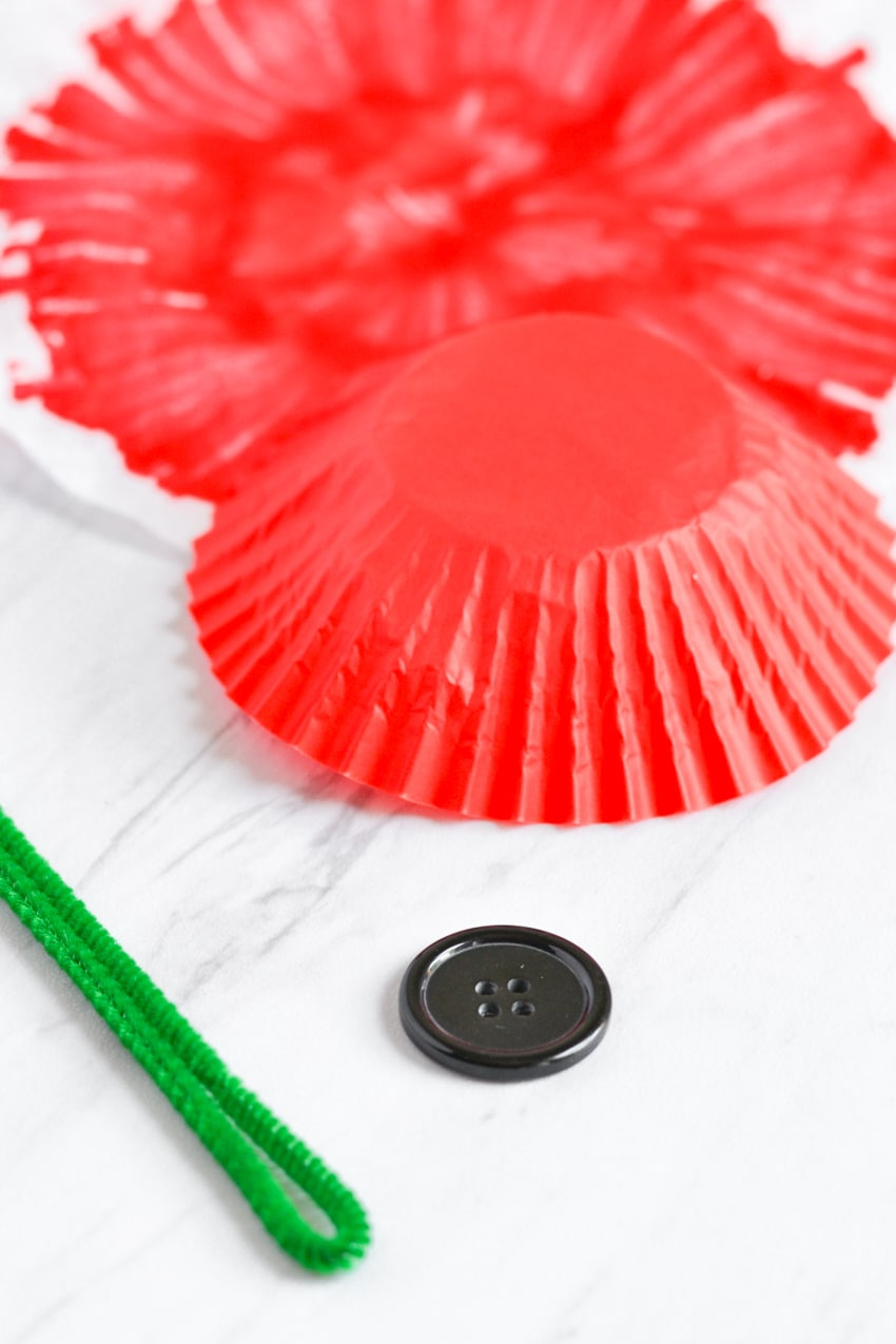 Memorial Day Paper Poppy Craft - Three Little Ferns - Family