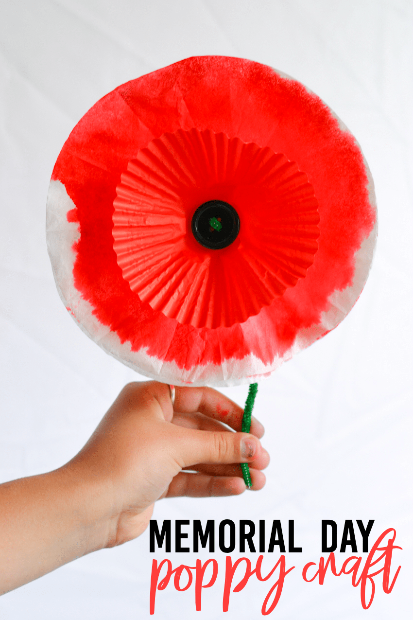 Memorial Day Paper Poppy Craft Three Little Ferns Family